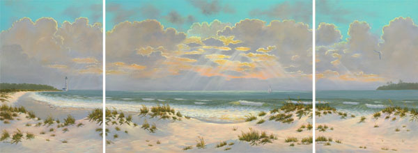 Coastal and Seascape Paintings in Plein Air Florida by Susan Oller