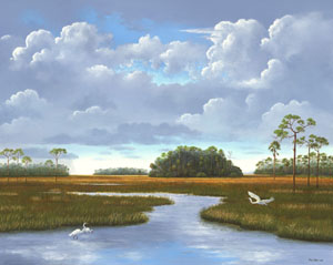 Southern Paintings of Everglades and old Florida Wetlands